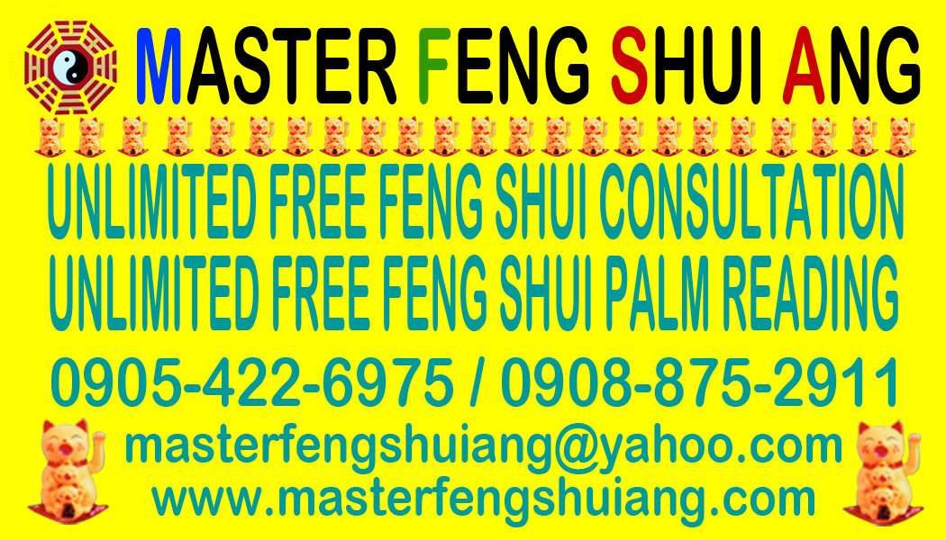 MASTER FENG SHUI ANG UNLIMITED FREE CONSULTATION
